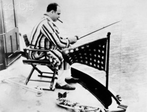 Al Capone Fishing from Boat