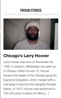 PRISON STORIES - LARRY HOOVER